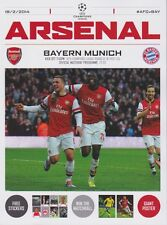 Arsenal V bayern munich 2013/14 champions league programme