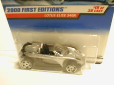 Hot Wheels 2000 First Editions #15 LOTUS ELISE 340R silver bare metal base PR5