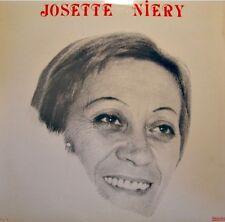JOSETTE NIERY la foule/nuit & brouillard/la vien en rose DE VAUX LP LE GRICHET++