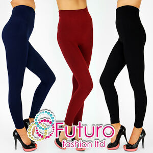 Thick Heavy Seamless HIGH WAIST Full Length Leggings Fleece Inside PW92205/6