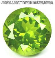 Natural Green Peridot 4mm Round Cut Gem Gemstone