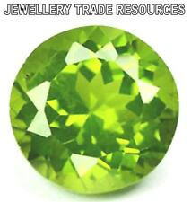 4mm Round Cut Natural Green Peridot Gem Gemstone