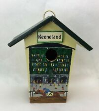 Hand Made Keeneland Green and Yellow Wooden bird house Excellent