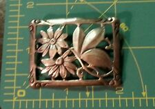 Vintage Sterling Silver Cut Out Flower Daisy Brooch Pin 8a50