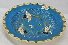 "Satsuma Kinkozan 10"" plate with birds. Marked on the bottom.  (BI#MK/171025)"