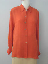 OLSEN Collection Size 36 (D) 38 (F) 10 (GB) 6 (US) Orange Long Sleeve Blouse