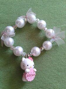 Braccialetto fatto a mano Hello Kitty Idea Regalo da Collezione Unico e Raro