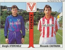 N°512 STERCHELE - CASTAGNA # ITALIA VICENZA STICKER TUTTO CALCIO 1995 SL