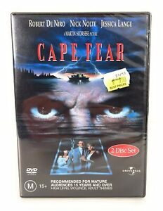 Cape Fear DVD Robert de Niro Nick Nolte New & Sealed Region 4 Free Postage