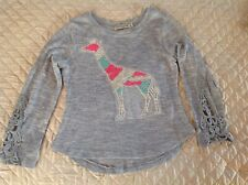 Chance of fate girls top size L rayon blend gray