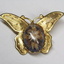 Vintage Butterfly Brooch Real Flower Belly Bouquet