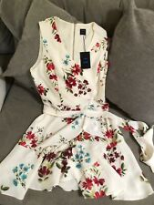 NWT Cue Myer Gorgeous Off White Floral Dress Size 14 Rrp $239