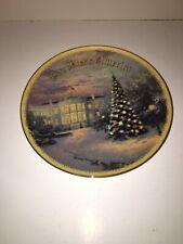 Lights Of Liberty, Thomas Kinkade, Christmas Plate 2001, Seasons Of Lights