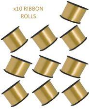 10 Dorado Cinta Rollos - Listones Cuerda Globo Regalo Detalle Lazo Lote