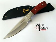 "Elk Ridge ER-148 9"" Fixed Blade Knife + Sheath Stainless Blade Pakkawood Handle"