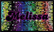 Personalized Name Mosaic Repositionable Color Wall Sticker Print 30x18