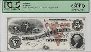 $5 18xx ABNCo. Proof North Western Bank Georgia; Ringgold, GA PCGS Gem New 66PPQ