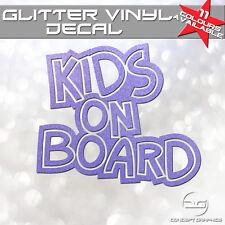 Kids On Board Children Baby Car Bus Glitter Vinyl Decal Sticker Safety Sign