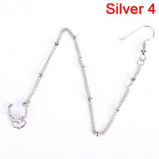 Nose to Ear Chain Nose Ring & Pierced Earring Jewelry Fashion Punk Style D FJ