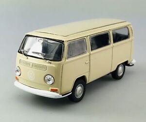 WELLY 1972 VW VOLKSWAGEN BUS T2 TRANSPORTER BEIGE 1:34 DIE CAST MODEL NEW