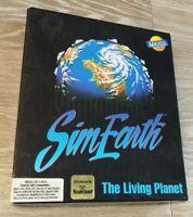 """SIM EARTH THE LIVING PLANET 1990 MAXIS PC GAME BIG BOX  3.5"""""""