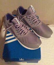 Men's Adidas Grey Tubular Runner, Size 9