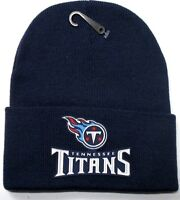 READ LISTING! Tennessee Titans HEAT Applied Flat Logo on Beanie Knit Cap hat!