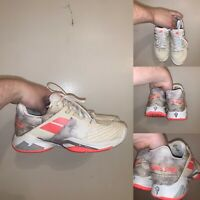 Babolat Propulse Fury AC Womens Size 9 Tennis Shoes White Floral XCompressor