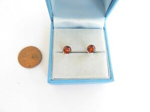 Lithuanian Baltic Amber and sterling silver earrings in beautiful gift box