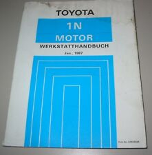 Werkstatthandbuch Motor 1 N Toyota Starlet Typ NP70 / NP 70 Stand 01/1987