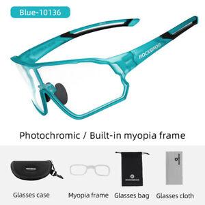 ROCKBROS Cycling Photochromic Sunglasses Outdoor Full Frame Anti-UV400 Glasses