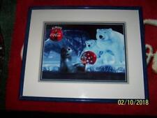 Coca Cola SEAL Polar Bear Coke ART Signed CEL # 1314 LTD Print Frame Certificate