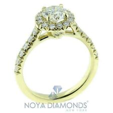 1.26 CARAT H VS2 HEARTS ON FIRE GIA CERTIFIED ROUND DIAMOND ENGAGEMENT RING 18K