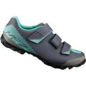 Shimano ME2 Womens Gray/Teal 40 Size 7.8 Mountain Bike Cycling Shoes