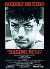 Jake LAMOTTA Signed Autograph Boxing 16x12 Raging BULL Film Poster  AFTAL COA