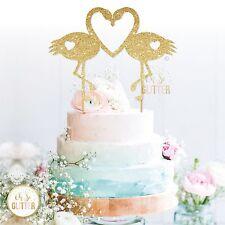 Flamingo Cake Topper Brillo Cake Topper Wedding Cake Topper Amor Aves De Oro