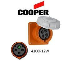 IEC 309 4100R12W Receptacle, 100A, 125/250V, 3P/4W, Orange - Cooper # AH4100R12W