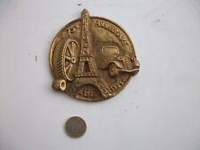 medaille automobile citroen en bronze 75ème anniversaire citroen