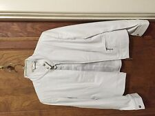NEW WHITE LEATHER JACKET SIZE 8