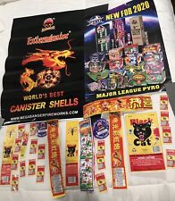 2 Fireworks Posters And Multiple Firecracker Labels