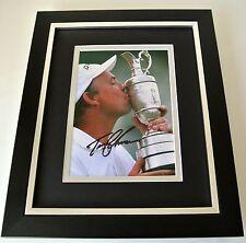 Tom Lehman SIGNED 10x8 FRAMED Photo Autograph Display Golf Open Sport & COA