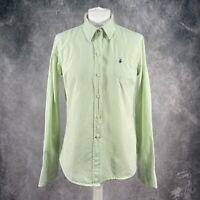 JACK WILLS Green & White Striped Button Down Shirt Size 14