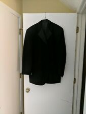 Mens AFTER SIX  Black Tuxedo Jacket sz 46R   4 button