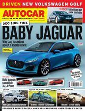 AUTOCAR MAGAZINE NEW VW GOLF, BABY JAGUAR, VW T-ROC, Jazz, J-PACE (NEW