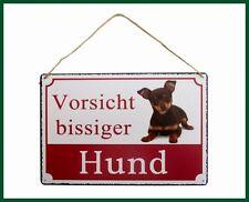 Wandschild Schild VORSICHT BISSIGER HUND Türschild Chihuahua