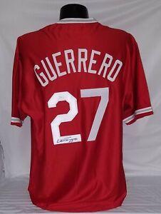 Vladimir Guerrero Signed Custom Red Angels Player Jersey (XL) JSA COA