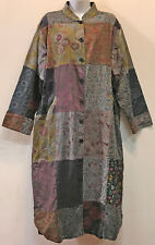 Nwt FUNKY STUFF patch corduroy cotton lagenlook DUSTER COAT + SCARF 1X 2X 20W