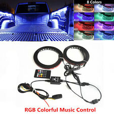 Pair Truck Bed RGB Light Strip LED Neon Lighting Kit For Ford Dodge GMC Truck