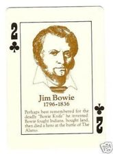 Jim Bowie  - Old West Playing Card - Knife Inventor