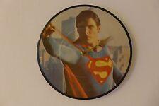 "Superman 1 - Original Theme Song - 7"" Picture Disc Clock - Vinyl Record Clock"